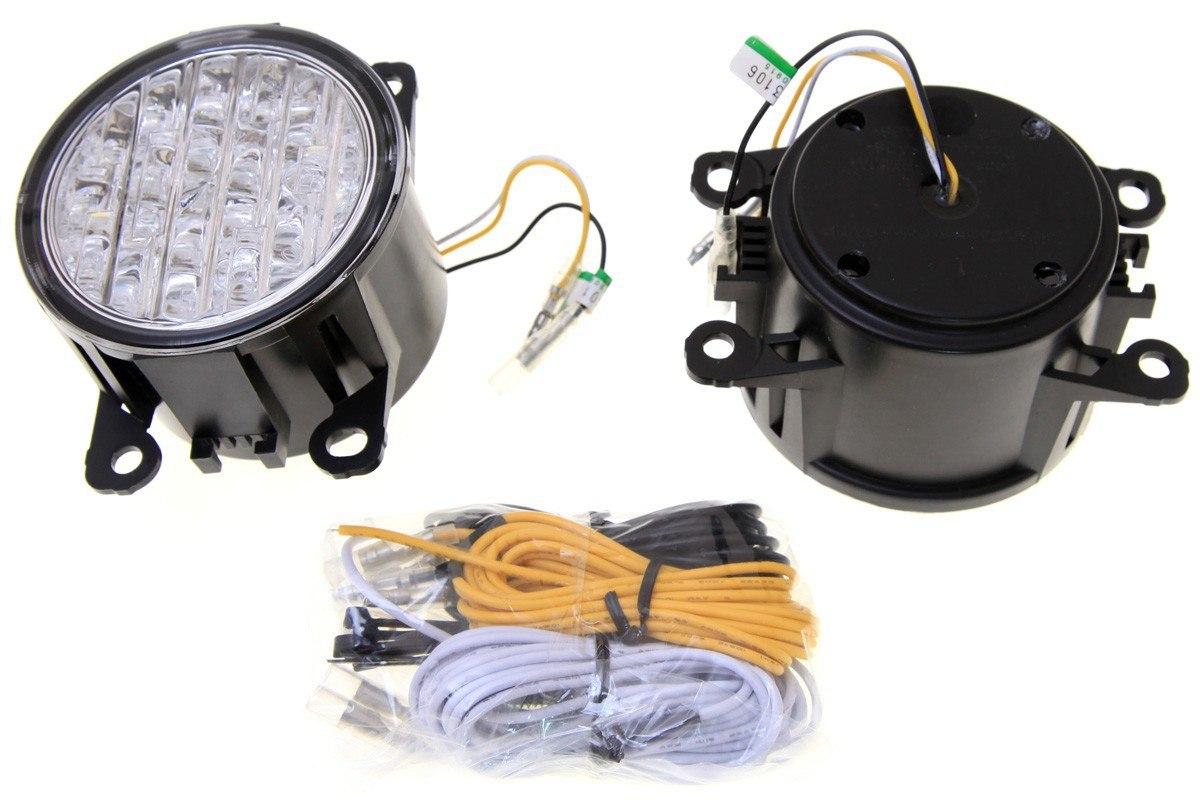 Lampy LED do jazdy dziennej halogen 9cm - GRUBYGARAGE - Sklep Tuningowy